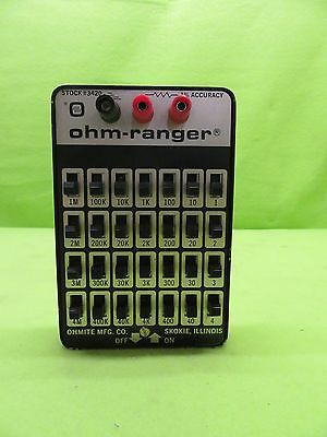 Ohmite 3420 Ohm-Ranger Selectable Resistance *Tested Working*