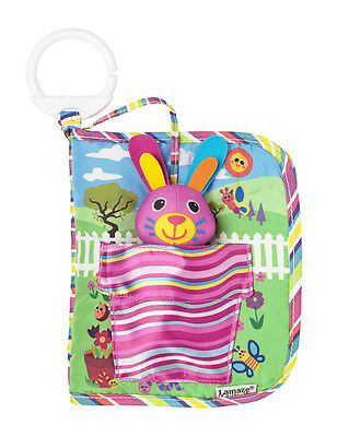 LC27917 Lamaze Bella The Bunny Hide and Seek Book Pram Toy Baby Infant Age 0m+