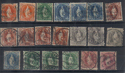 Switzerland 1893-1902 Used collection