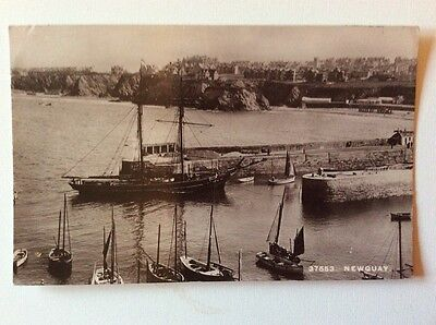 Newquay  (Harbour ) Cornwall RP  Postcard 1912