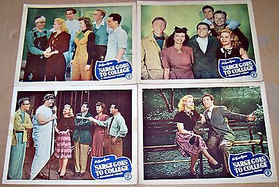 Sarge Goes To College (1947) Noel Neill * Rare Lot Of 4 Orig Lobby Cards