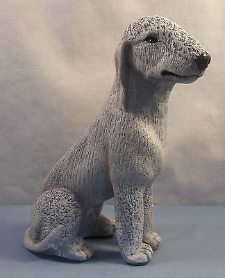 Hand Made and Signed Bedlington Terrier Dog Statue