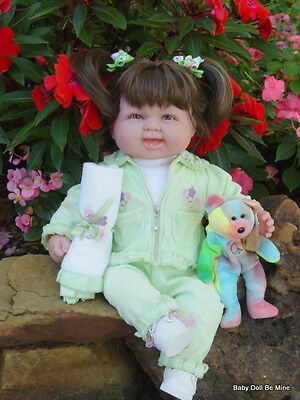 "New 18 "" Berenguer Baby Doll ~ makeover ~  Brunette in Mint Green ~ Extras"
