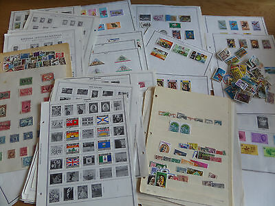 British Commonwealth Hundreds of stamps - mainly on album leaves