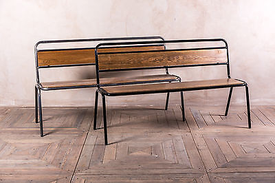 Restaurant Dining Bench With Back Gunmetal Or Black Three Sizes Available