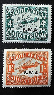 South West Africa 1930 South Africa Air Stamps Overprinted S.W.A. UNM SG 72b-73b