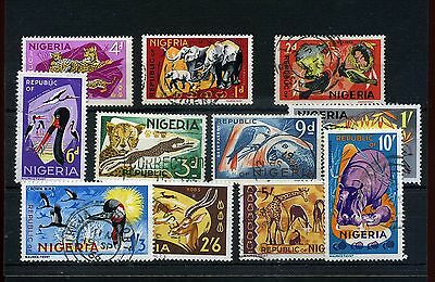 Nigeria.11--1965/6  Mounted Mint/ Used Stamps On Stockcard
