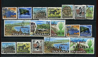 Tanzania.17 -- 1965 Used Stamps On Stockcard.includes Officials