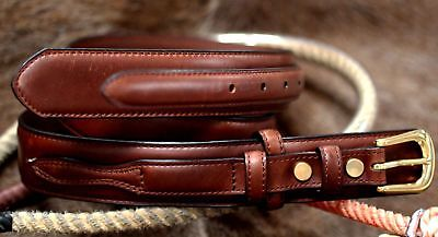 "3D USA Mens Dress Western Basic Ranger Leather Belt Tan 1-1/2"" 262058"