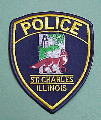 St. Charles  Illinois  Il  ( Red Fox )   Police Patch   Free Shipping!!!