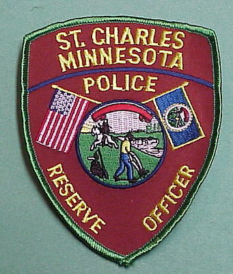 St. Charles  Minnesota  Mn  Reserve Officer  ( Green Border )  Police Patch