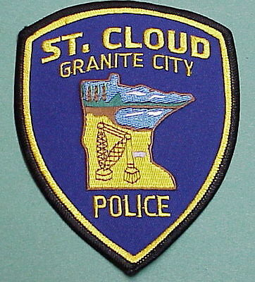 """St. Cloud  Minnesota  Mn  """" Granite City """"  Police Patch   Free Shipping!!!"""