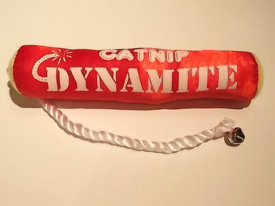 Classic Dynamite Catnip Toy With Bell - Red - New