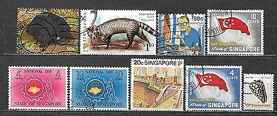 Singapore small lot of used stamps