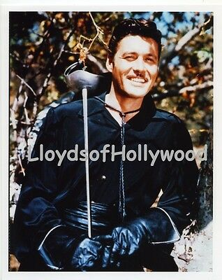 Guy Williams Zorro Unmasked Handsome  Nice Candid Color Photograph