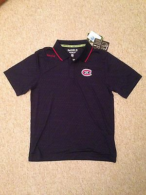 Montreal Canadiens Reebok Centre Ice polo shirt. New. NHL. MEDIUM.