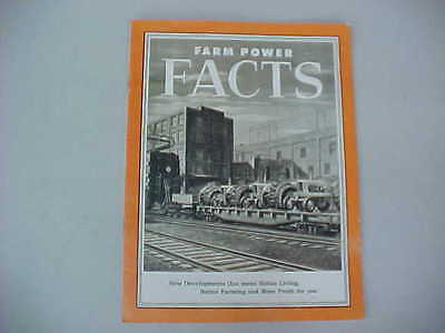 Vintage Allis-Chalmers (A-C) Farm Power Facts Brochure (Wd-45, Ca, G, B Models)
