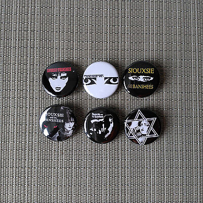 6 Siouxsie and the Banshees Button / Pins / Badge / 1.25 Inch / 32 mm / PostPunk