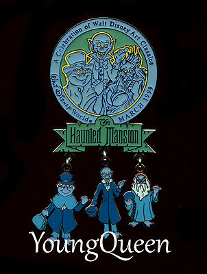 RARE WDAC 1999 Disney Haunted Mansion Hitchhiking Ghost Dangle Le Pin