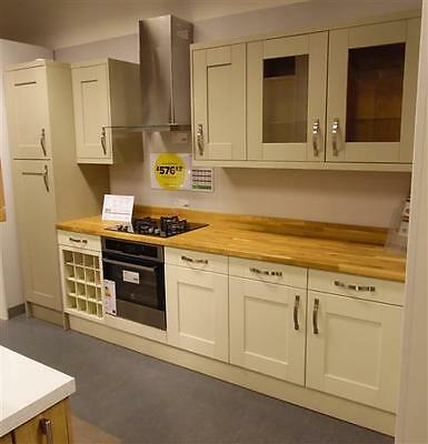 Ex Display Hygena Kitchen Palmeria Sage Cabinets. Individual units available
