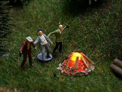 S864 Campfire With LED Flickering Fire fire for Model railway Gauge H0 + TT