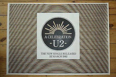 U2 - A Celebration - ORIGINAL PROMOTIONAL POSTER - In Stunning Condition - c1982