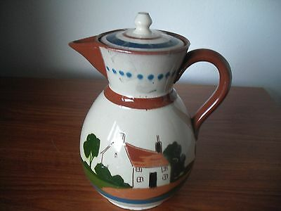 "Torquay Mottoware Coffee Pot ""Do Something Do Good If You Can But Do Something"""