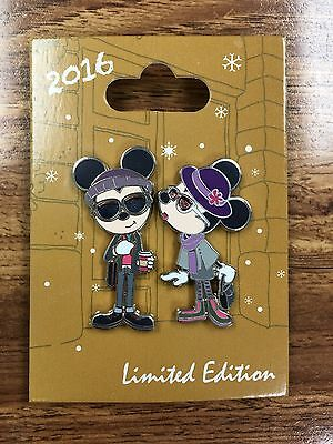 WINTER HIPSTERS Disney 2016 Mickey Minnie Bon Vivant Pin LE1500 #6 OF 6 Holiday