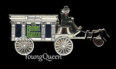 Disney Haunted Mansion Hearse Driven by Hitchhiking Ghost Ezra Pin