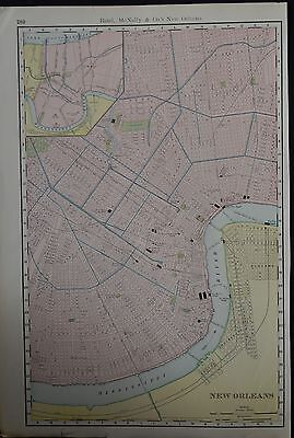Great CITY PLAN of NEW ORLEANS, USA  By RAND, McNALLY.  C.1900.