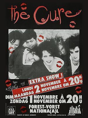 """The Cure Belgian 16"""" x 12"""" Photo Repro Concert Poster no 2"""