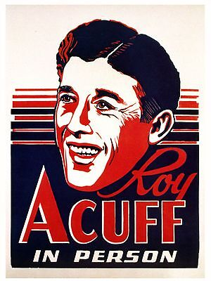 """Roy Acuff 16"""" x 12"""" Photo Repro Concert Poster"""