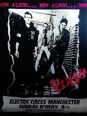 """Clash Manchester Electric Circus 16"""" x 12"""" Photo Repro Concert Poster"""