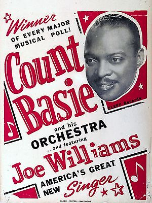 "Count Basie 16"" x 12"" Photo Repro Concert Poster"