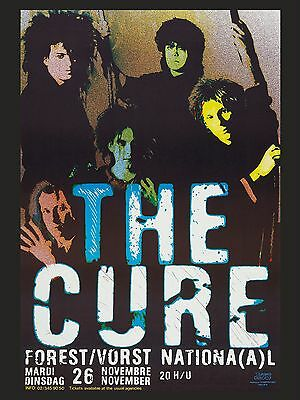 """The Cure Belgian 16"""" x 12"""" Photo Repro Concert Poster no 1"""