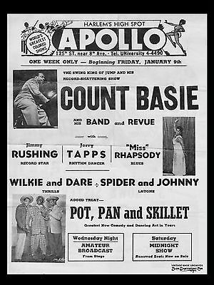 "Count Basie The Apollo 16"" x 12"" Photo Repro Concert Poster"
