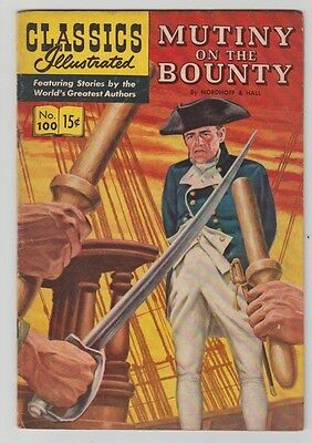 Classics Illustrated 1952 Mutiny On The Bounty # 100-Hrn #100 -Unread