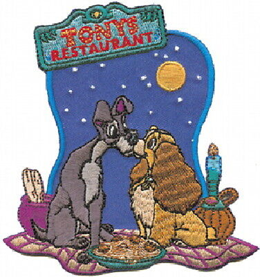 Walt Disney's Lady and the Tramp Tony's Restaurant Embroidered Patch NEW UNUSED