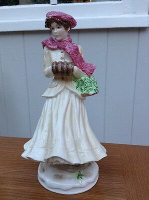 """Royal Worcester Figurine """"winter"""" - The Four Seasons Collection Ltd Edt"""