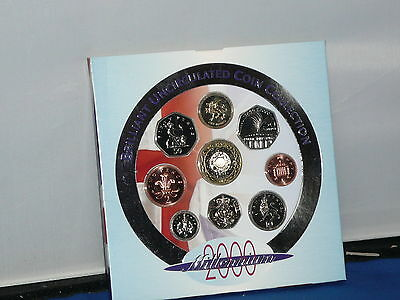 United Kingdom 2000 Brillian Uncirulated Coin Collection Set FREE U/K POSTAGE