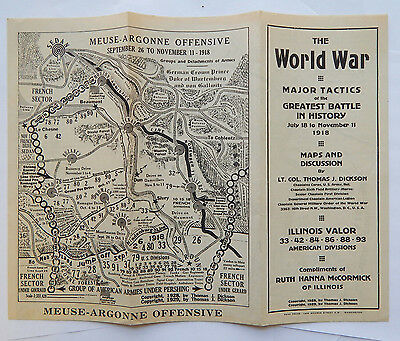 1929 World War Major Tactics Maps & Discussions by Lt Col Thomas J Dickson
