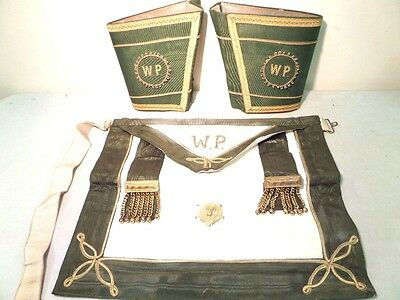 2x Sets of Yorkshire MASONIC Aprons & Cuffs - Possibly Todmorden / Hebden Bridge