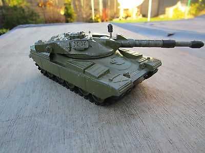 DINKY TOYS DIECAST CHIEFTAIN TANK 155MM MOBILE GUN with tracks everything works