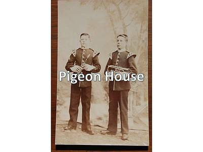 Nottingham Derbyshire Sherwood Foresters: Two Young Musicians.