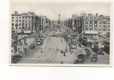 O'Connell Street,Dublin,RPPC Valentines