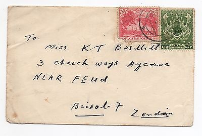 1954 PAKISTAN Cover To HORFIELD BRISTOL SG58 SG67