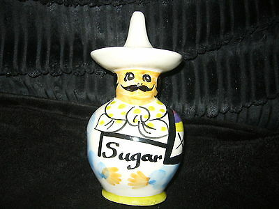 Toni Raymond Pottery Vintage Sugar Shaker Shaped As A Mexican Man