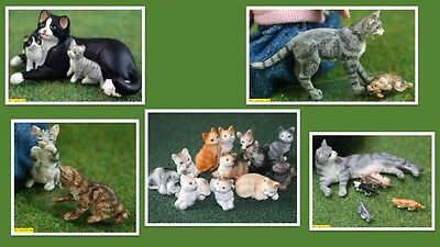 1:12 scale dolls house miniature cute  resin cats & kittens 5 to choose from.