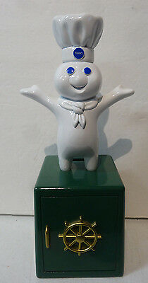 Pillsbury Doughboy Giggling Metal Giggle Bank Figurine Giggles When picked up