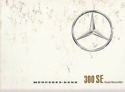 Mercedes Benz 300Se Coupe/convertible, Brochure, Dated 2/64.